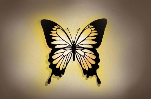 3D-Wandbild-Schmetterling-mit-LED