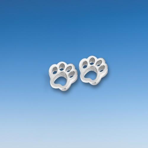 Aparte Ohrstecker kleine Hundepfote - Paar