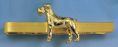 Krawattenclip Hund Schnauzer kupierte oder unkupierte Rute