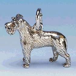 Anhänger Hund Schnauzer mit unkupierter Rute