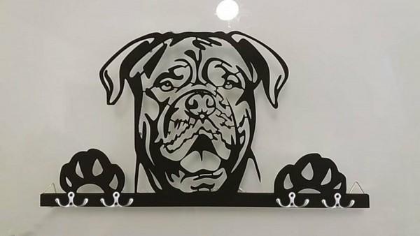 Bordeaux Dogge 3D Schlüsselbrett Hund - Leinengarderobe