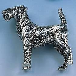 Brosche Airedale-Terrier