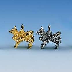 Anhänger Chihuahua langhaar in Silber und Gold