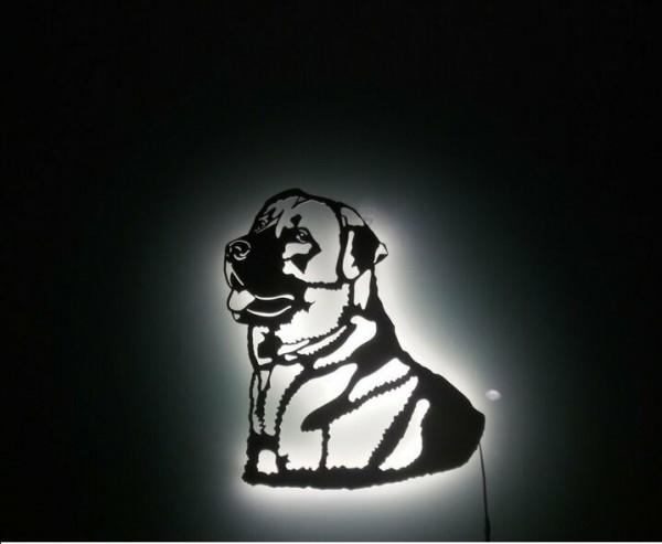Kangal 3D-Wanddekoration aus Holz mit LED Licht