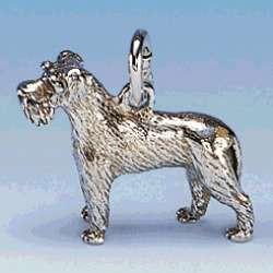 Charm-Anhänger Hund Schnauzer mit unkupierter Rute