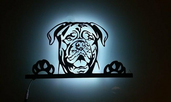 3D-Wandbild-Bordeaux-Dogge-mit-RGB