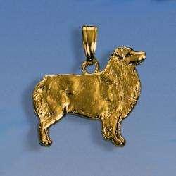 Anhänger Australian Shepherd flach