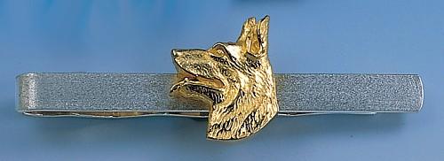 Eleganter Krawattenclip Schäferhund Kopf