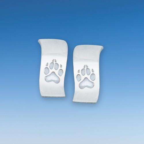 Moderne Ohrstecker mit Hundepfote - Paar